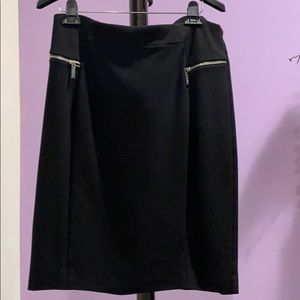 Michael Kors black skirt w/ zippered pockets SZ 14